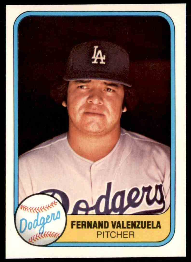 1981 Fleer Fernando Valenzuela #140 card front image