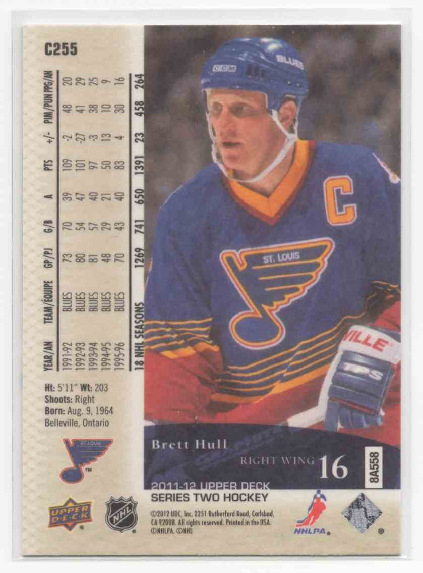 2011-12 Upper Deck Canvas Retired Stars Brett Hull #C255 card back image