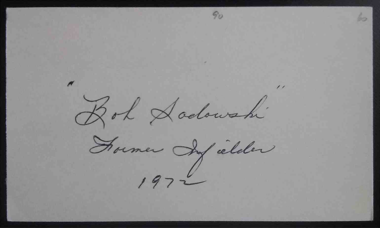 1960 3X5 Bob Sadowski card back image