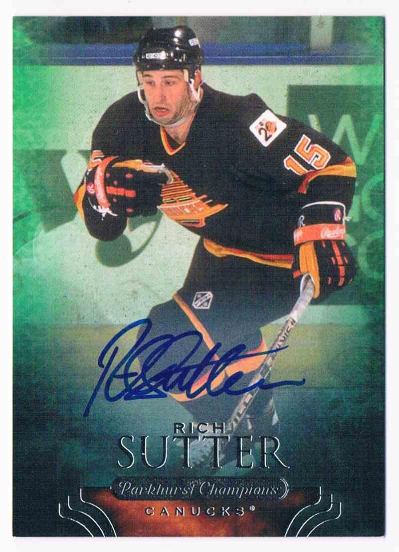 2011-12 Parkhurst Champions Autographs Rich Sutter #90 card front image