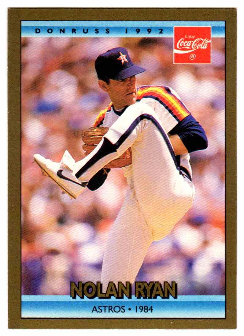 1992 Donruss Gold Coca Cola Nolan Ryan 18 On Kronozio