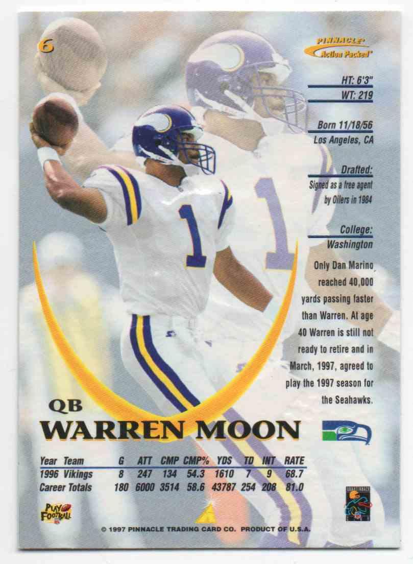 quality design f5557 6c62b 1997 Action Packed Warren Moon #6 on Kronozio