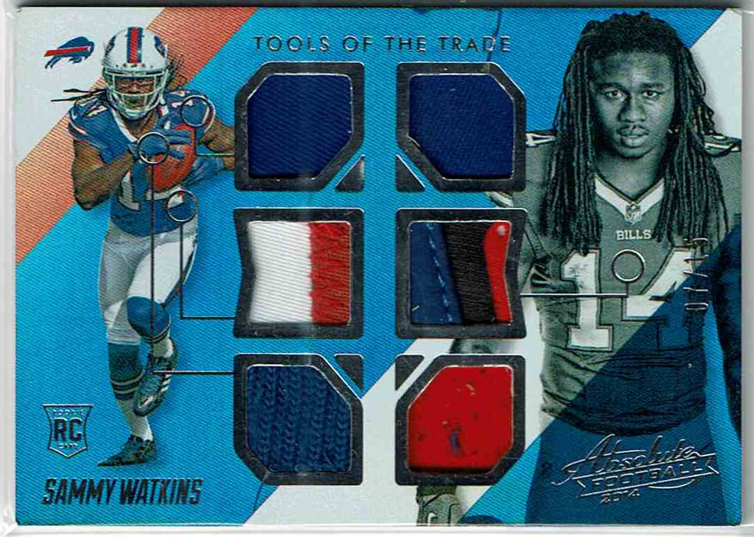 2014 Panini Playoff Absolute Tools Of The Trade Complete Rookies Spectrum Silver Sammy Watkins #SW card front image