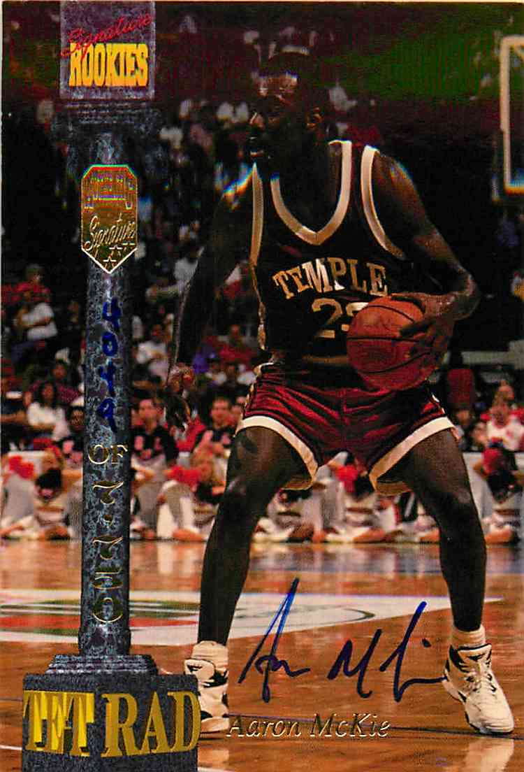 1994-95 Signature Rookies Aaron Mckie #LXIII card front image