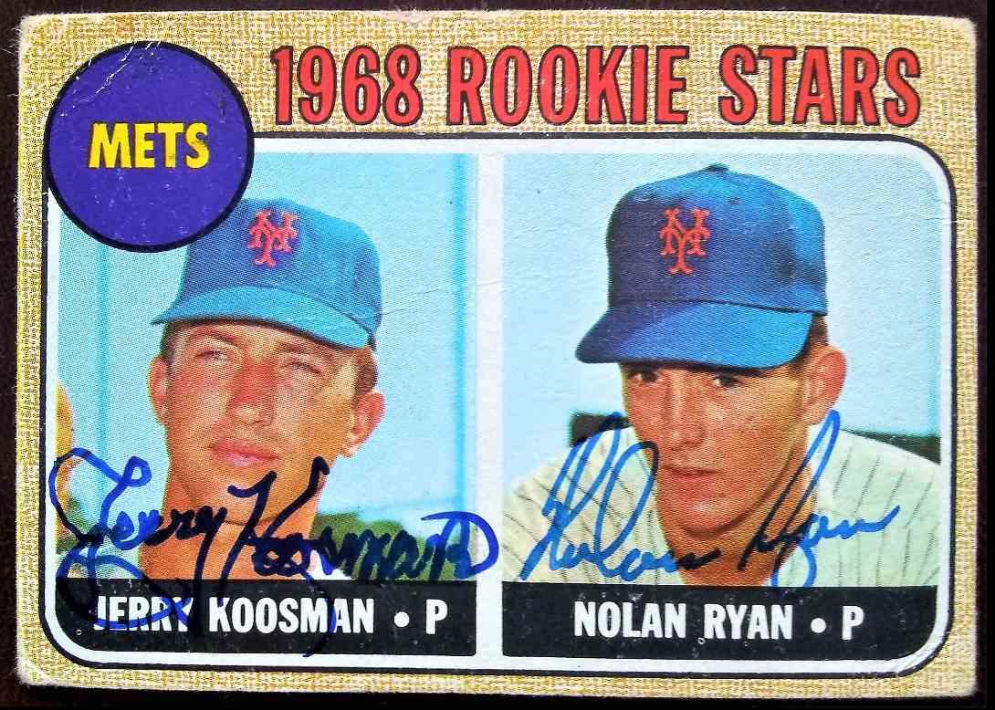 1968 Topps Jerry Koosman Nolan Ryan #177 card front image