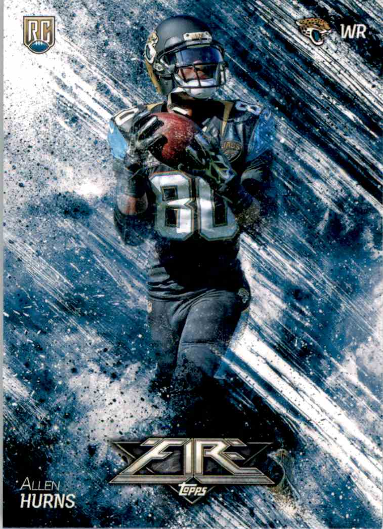 2014 Topps Fire Allen Hurns RC #129 card front image