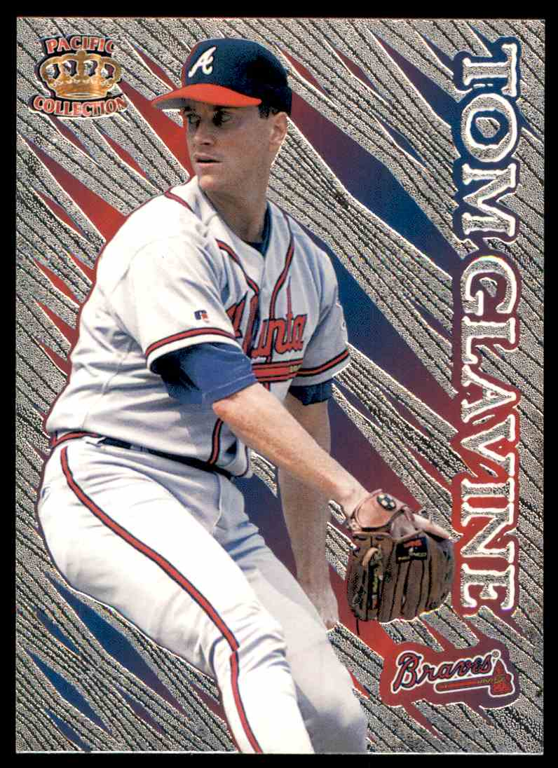 1996 Pacific Prisms Tom Glavine #1 card front image