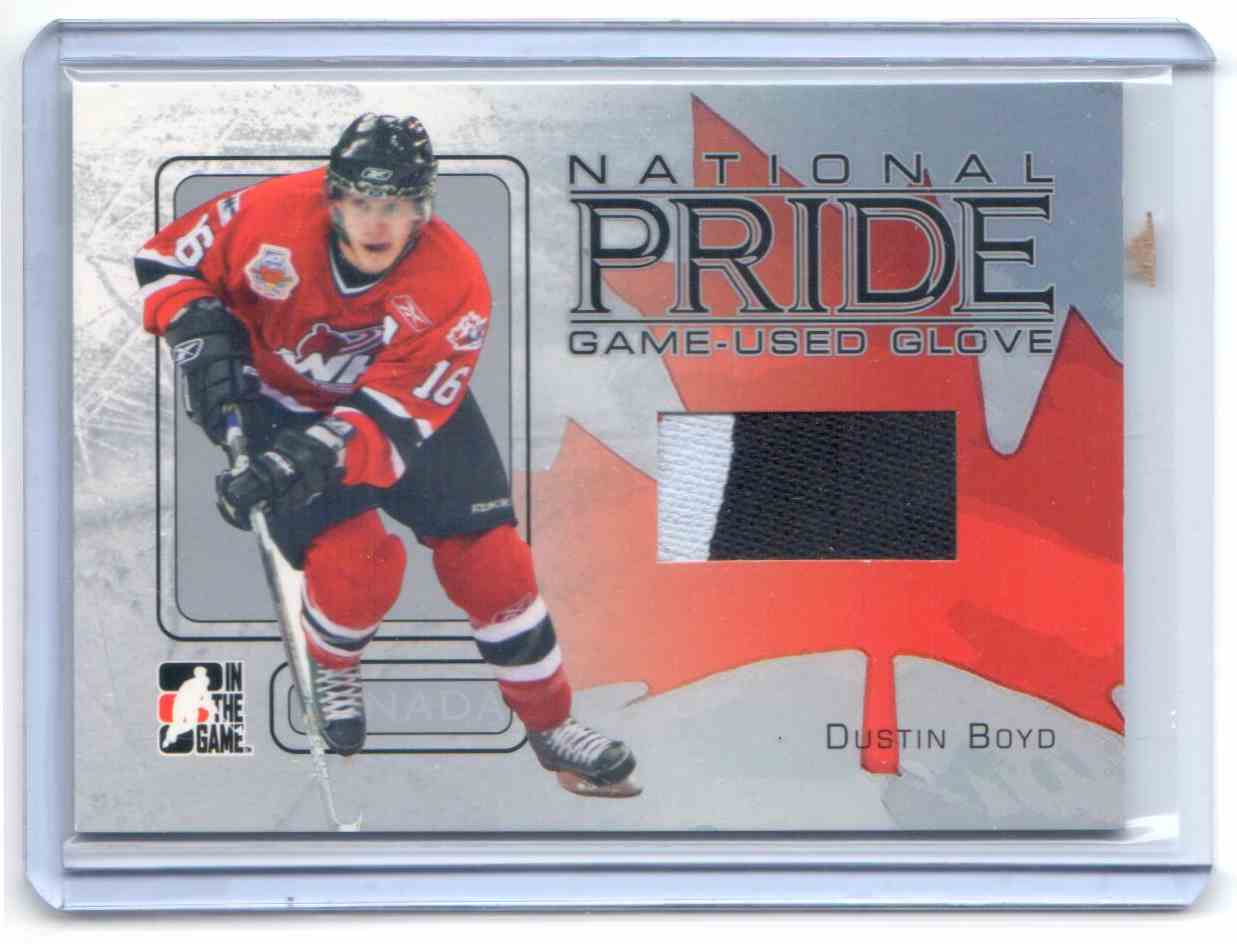 2006-07 In The Game Heroes And Prospects National Pride Dustin Boyd #NP-18 card front image
