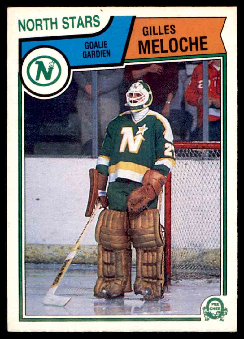 1983-84 O-Pee-Chee Gilles Meloche #177 card front image
