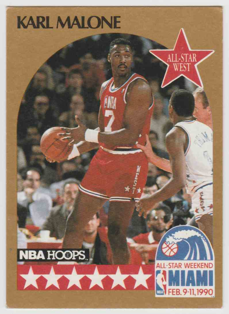 designer fashion a4574 9848f 1990-91 NBA Hoops All-Star Karl Malone #21 on Kronozio