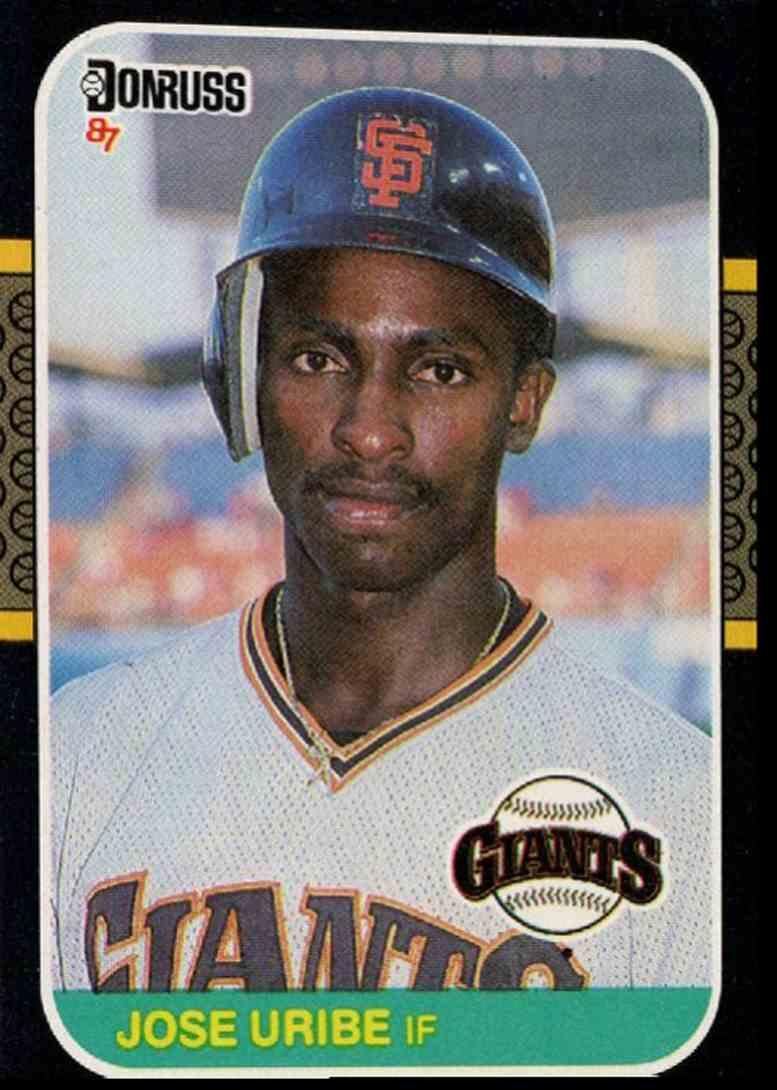 1987 Jose Uribe Baseball Card Donruss Jose Uribe ##436 card front image
