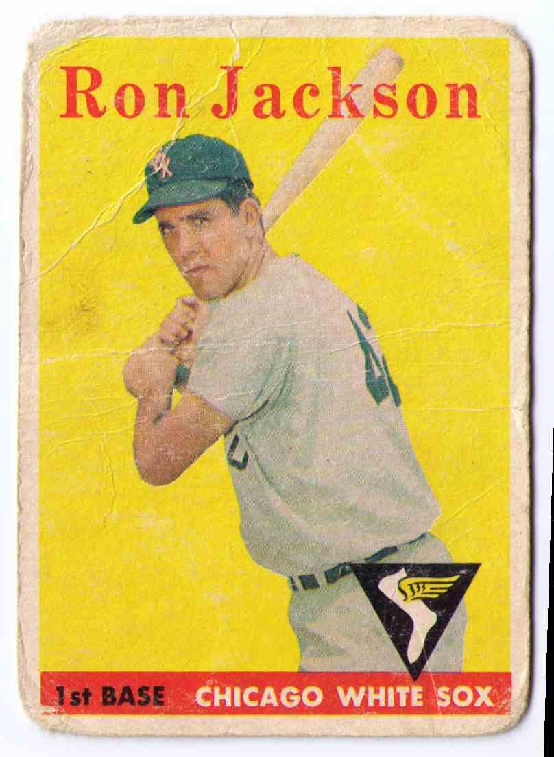 1958 Topps Baseball Card Ron Jackson #26 card front image