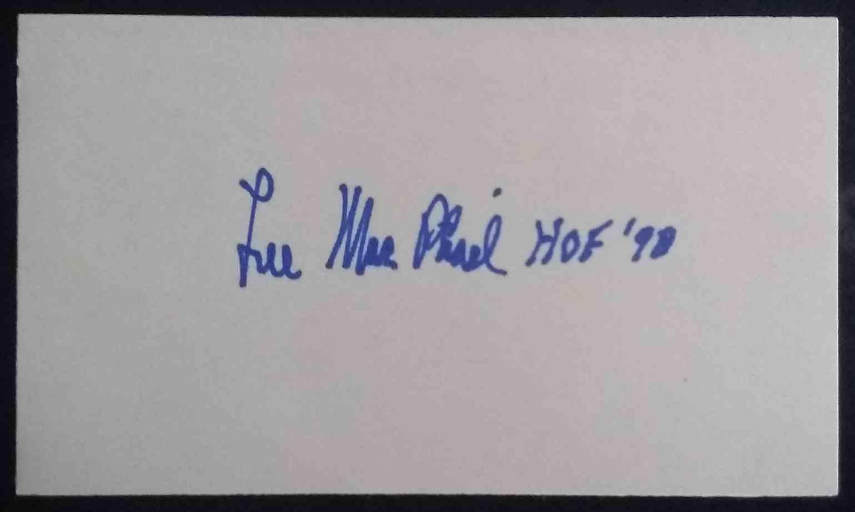 1998 3X5 Lee MacPhail card back image