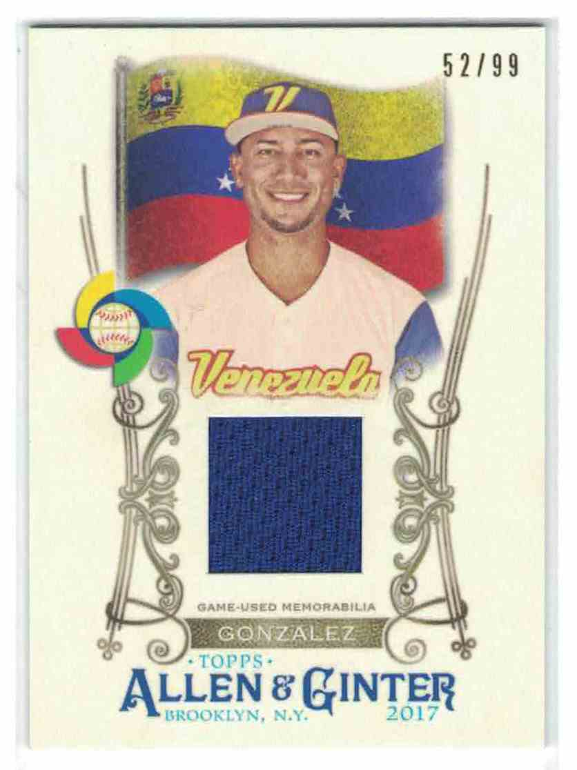 1 Carlos Gonzalez World Baseball Classic Relic Trading Cards For Sale