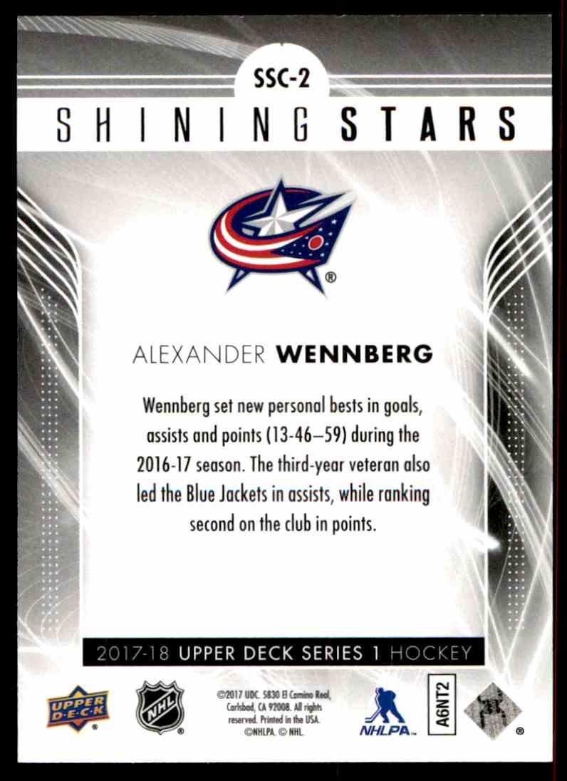 2017-18 Upper Deck Shining Stars Alexander Wennberg #SSC-2 card back image