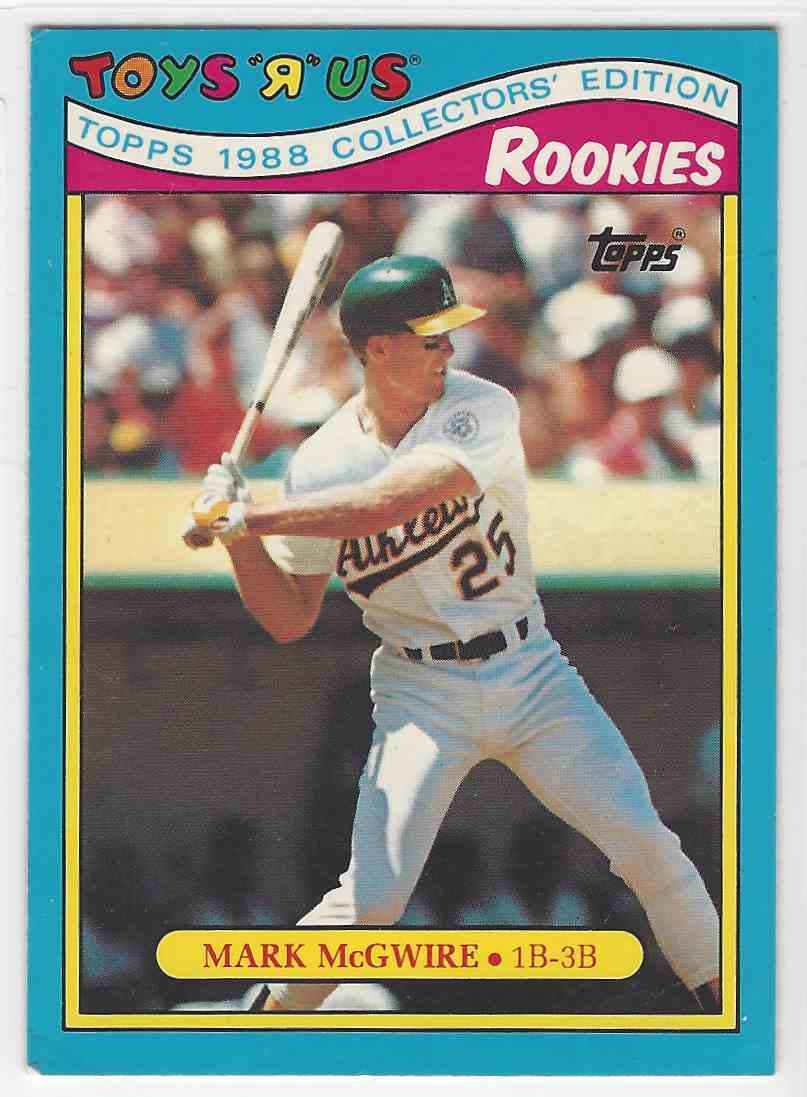 1988 Topps Toys R Us Rookies Mark Mcgwire 19 On Kronozio