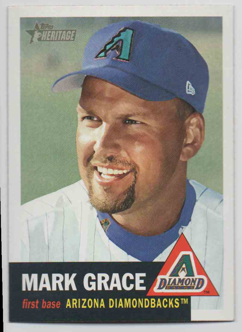 2002 Topps Heritage Mark Grace #136 card front image