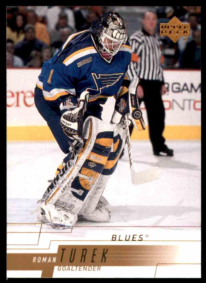 2000-01 Upper Deck Roman Turek #154 card front image