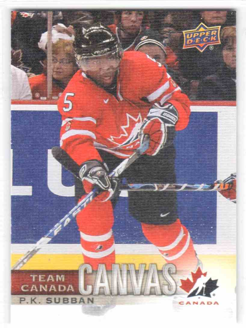 2017-18 Upper Deck Team Canada Canadian Tire Canvas P.K. Subban #TCC-15 card front image