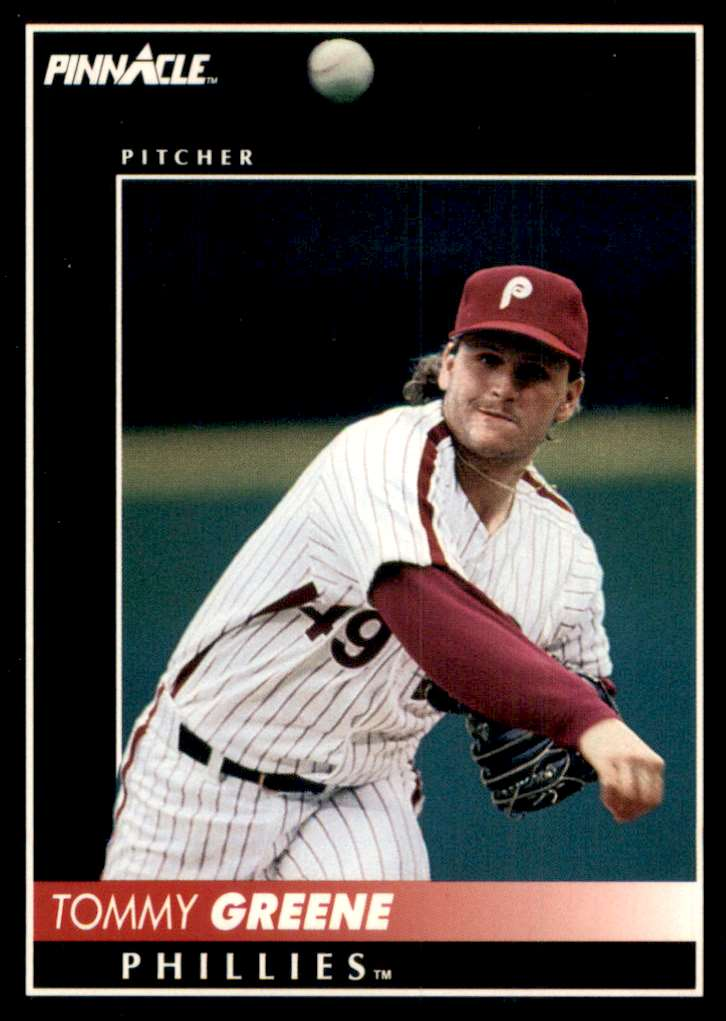1992 Pinnacle Tommy Greene #155 card front image