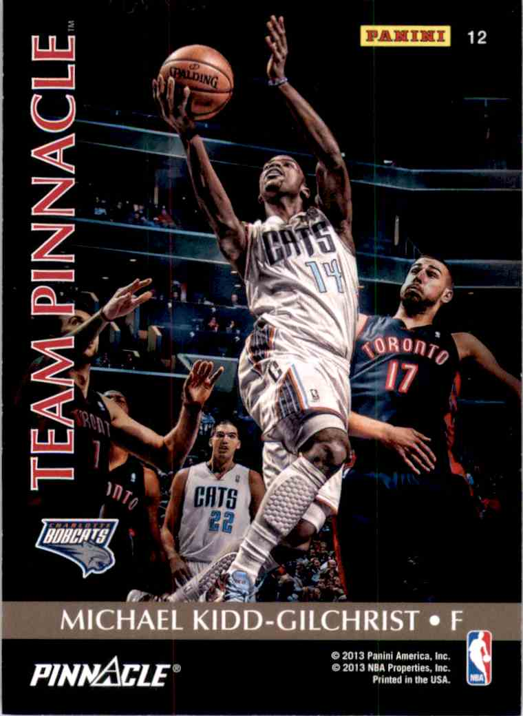 2013-14 Panini Father's Day Team Pinnacle Anthony Davis/Michael Kidd-Gilchrist #12 card back image