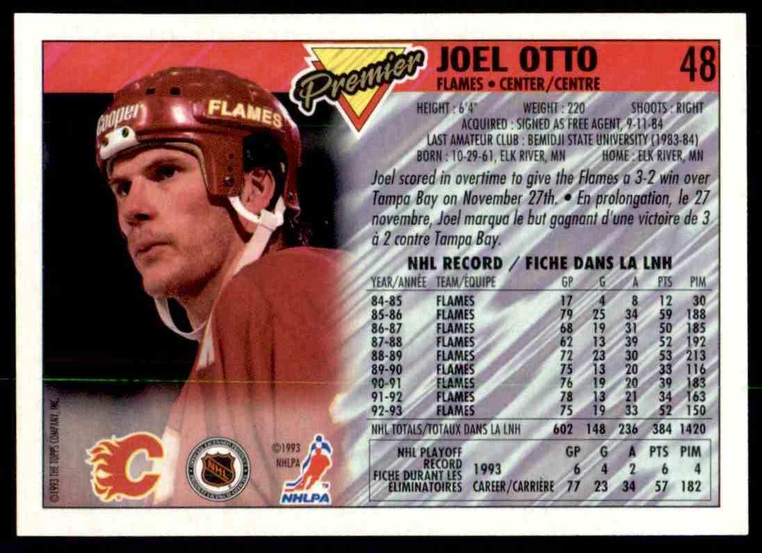1993-94 Topps Premier Joel Otto #48 card back image