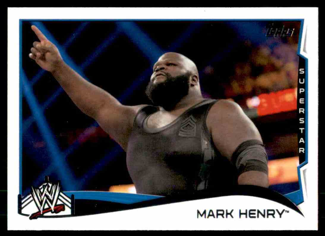 2014 Topps Wwe Mark Henry #81 card front image