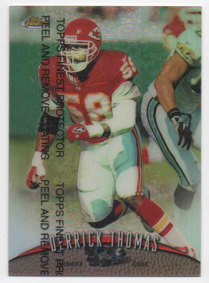 1998 Finest Refractor Derrick Thomas #88 card front image