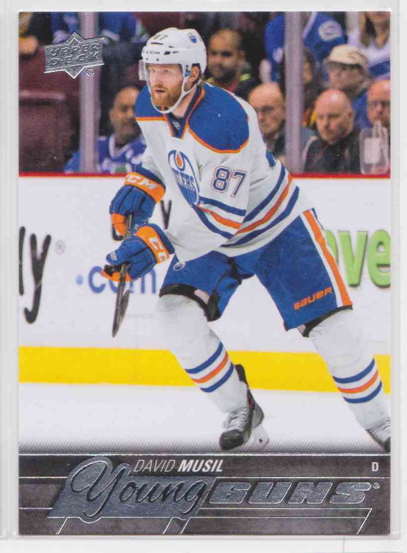 2015-16 Upper Deck Young Guns David Musil RC #485 card front image