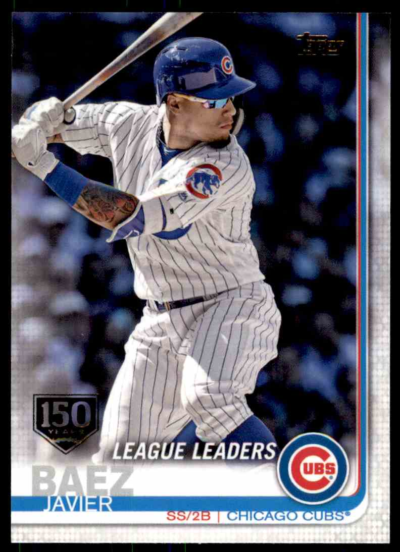 2019 TOPPS 150 YEARS GOLD STAMP JAVIER BAEZ CHICAGO CUBS #90   eBay