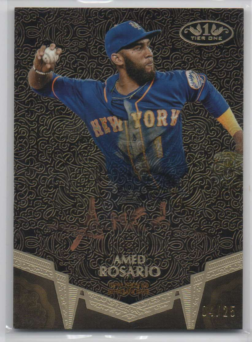 2019 Topps Tier One Break Out Autographs Bronze Ink Amed Rosario #BA-AR card front image