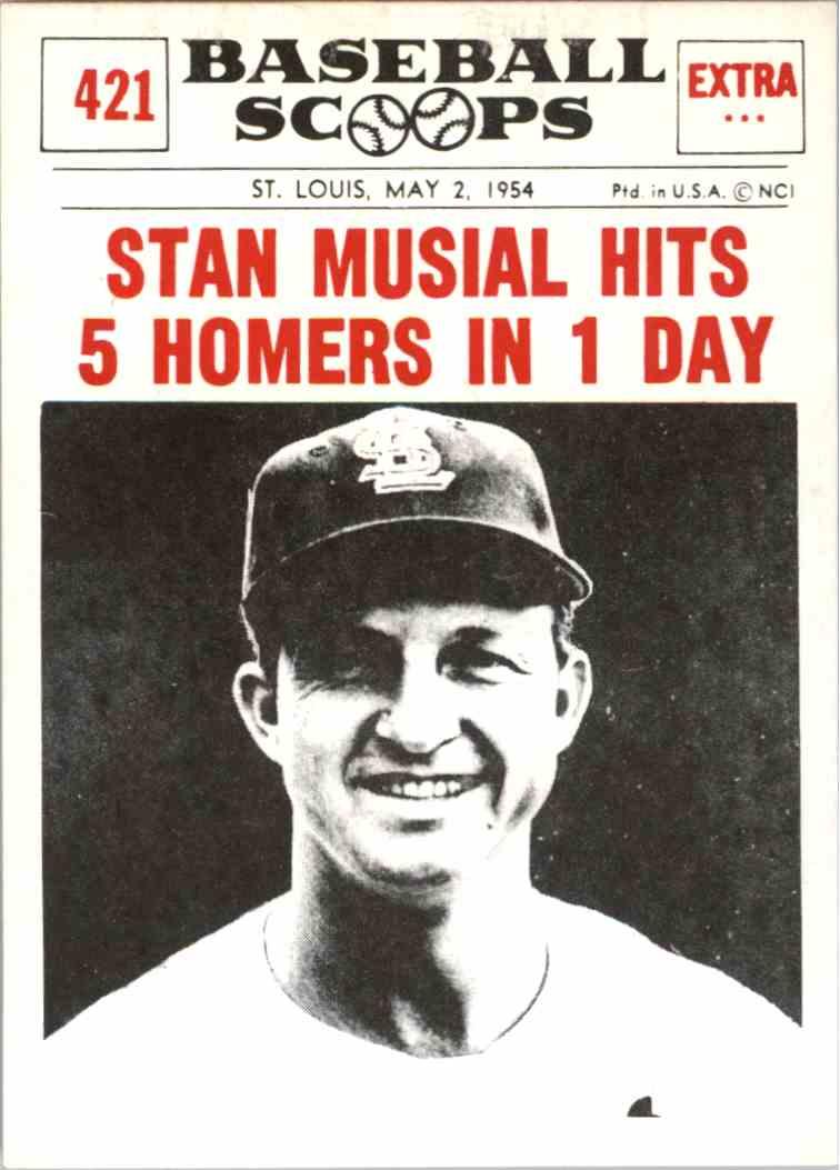 1961 Nu Card Baseball Scoops Reprint Stan Musial 421