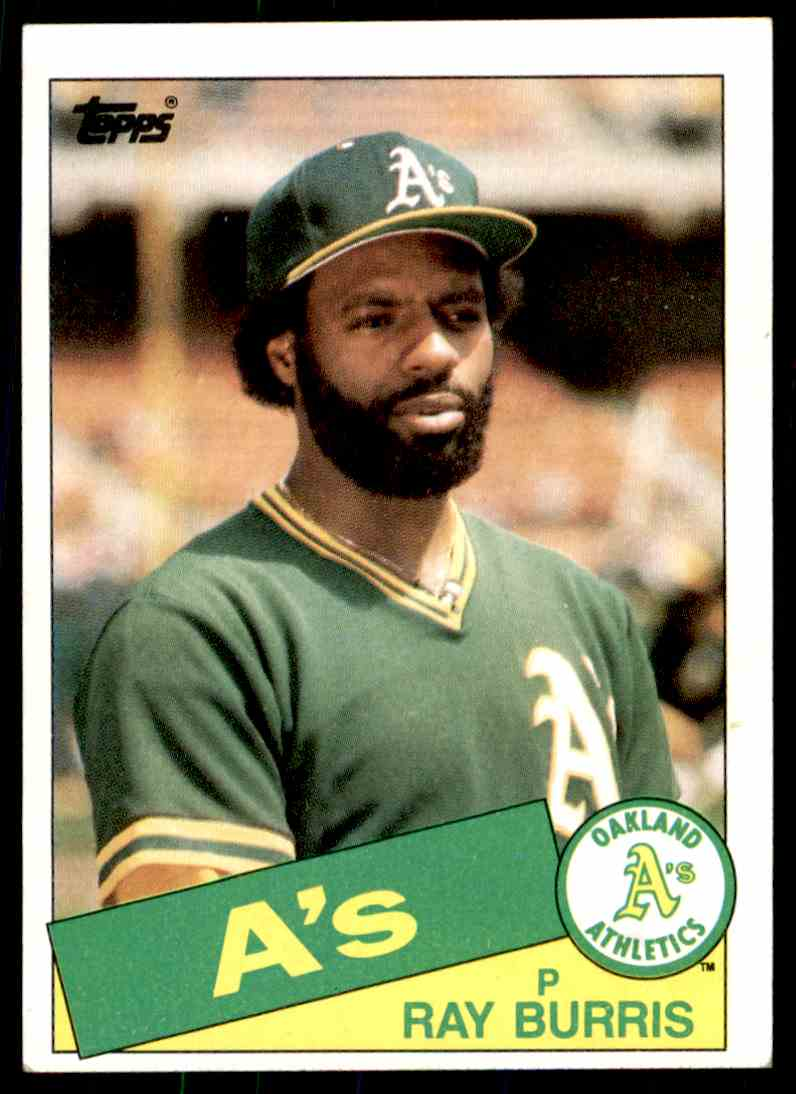 1985 Topps Ray Burris #758 card front image