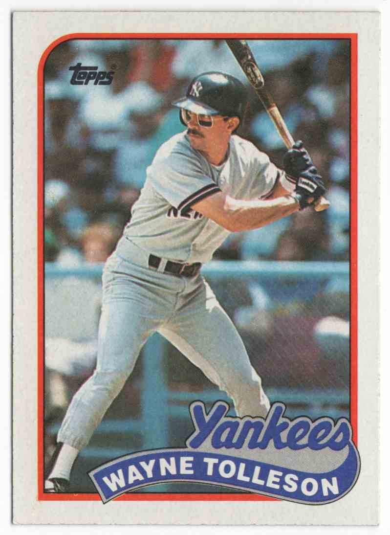 1989 Topps Wayne Tolleson #716 card front image