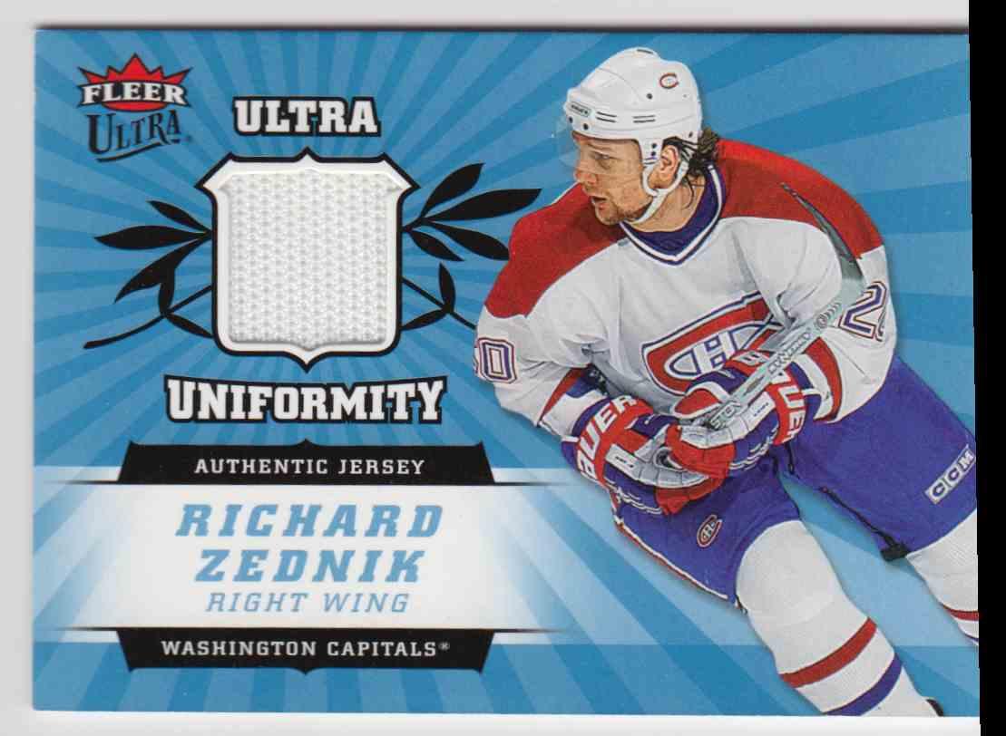 2006-07 Ultra Uniformity Jersey Richard Zednik #U-RZ card front image