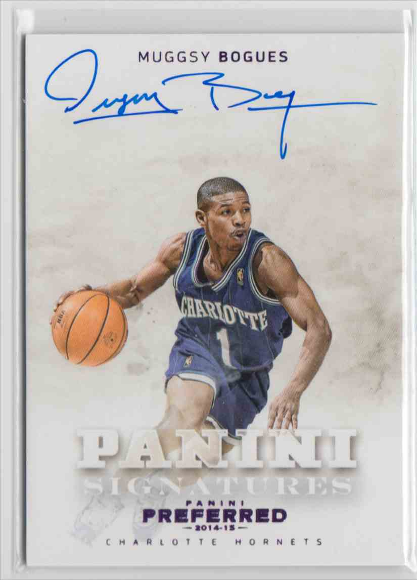 d329af640 2014-15 Panini Preferred Panini Signatures Purple Muggsy Bogues  492 card  front image