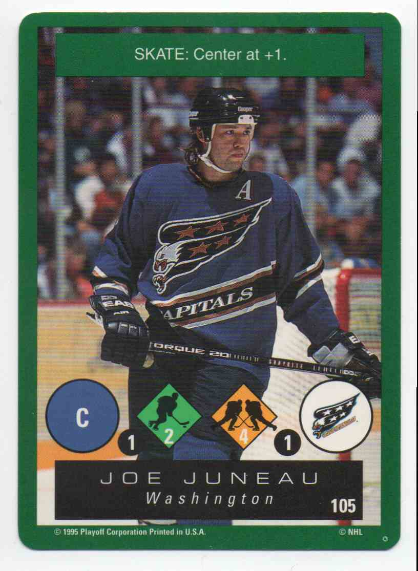 1995-96 Playoff One On One Joe Juneau #105 card front image