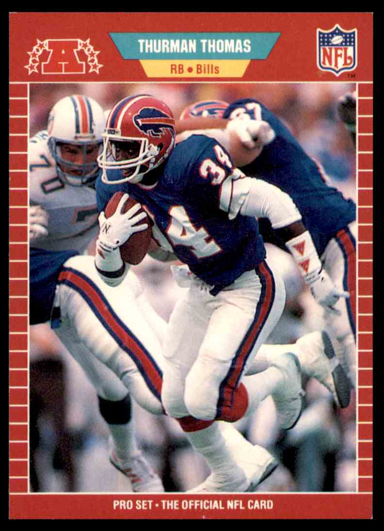 1989 Pro Set Football Thurman Thomas 32 Card Front Image