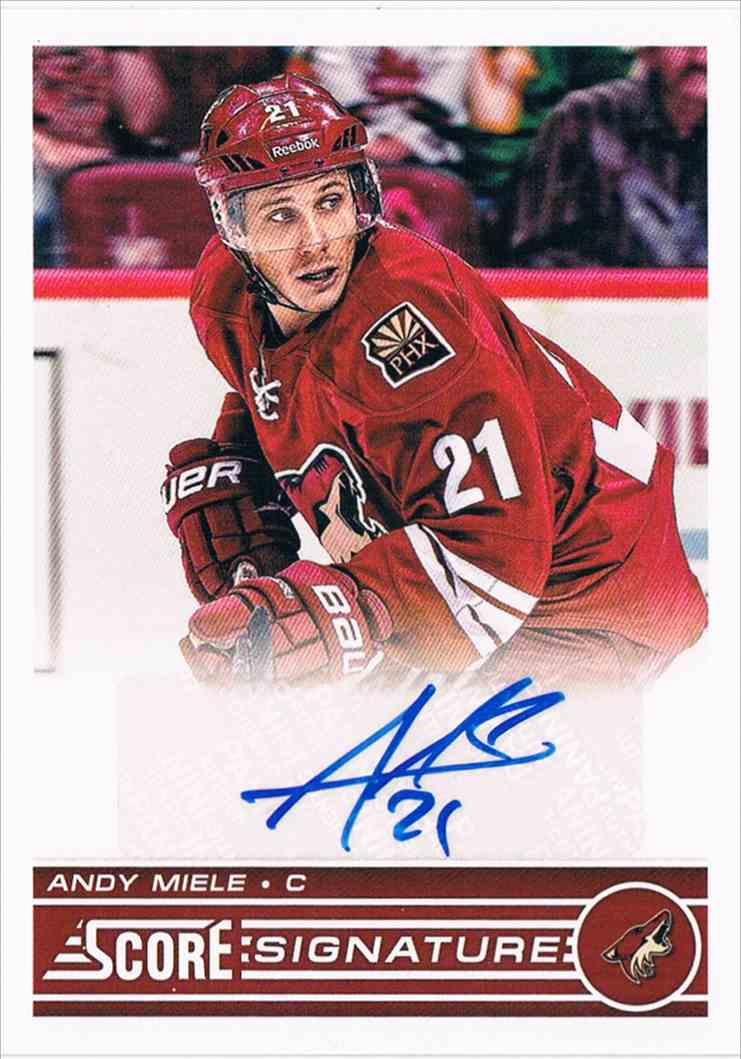 2013-14 Panini Score Signatures Andy Miele #SS-AM on