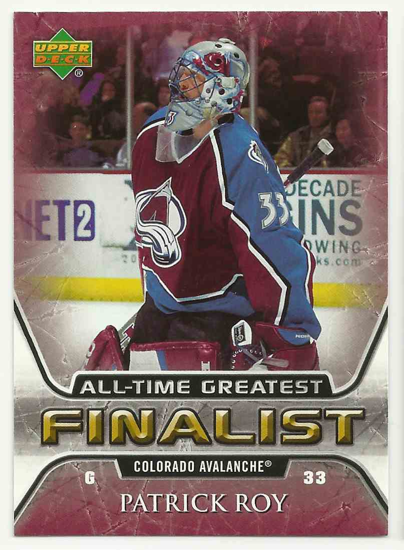 2005-06 Upper Deck All-Time Greatest Patrick Roy #16 card front image