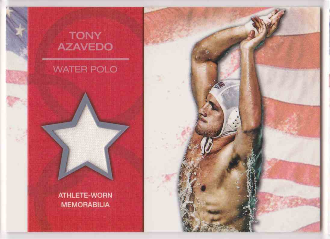 2012 Topps U.S. Olympic Team Relic Tony Azavedo #OR-TA card front image