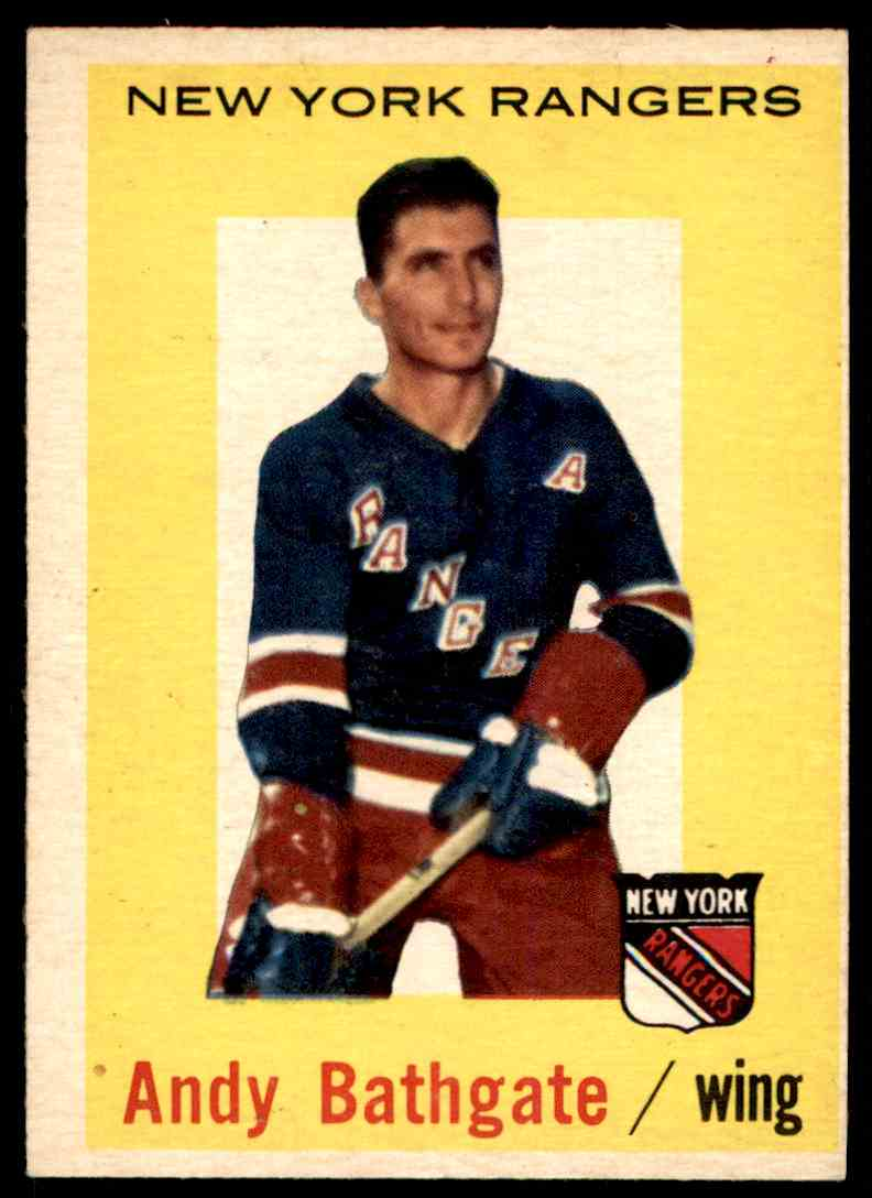 1959-60 Topps Andy Bathgate (B) #34 card front image