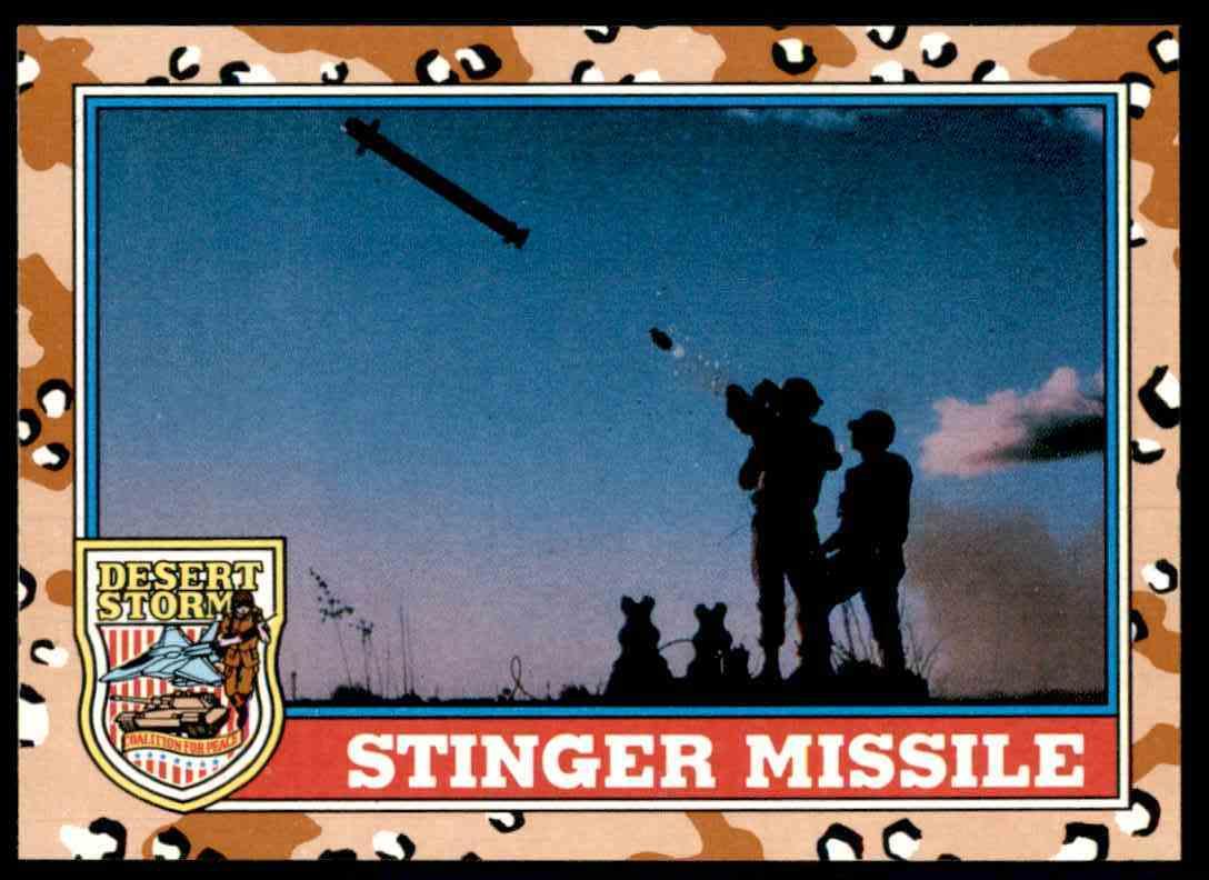 1991 Desert Storm Topps Stinger Missile #89 card front image
