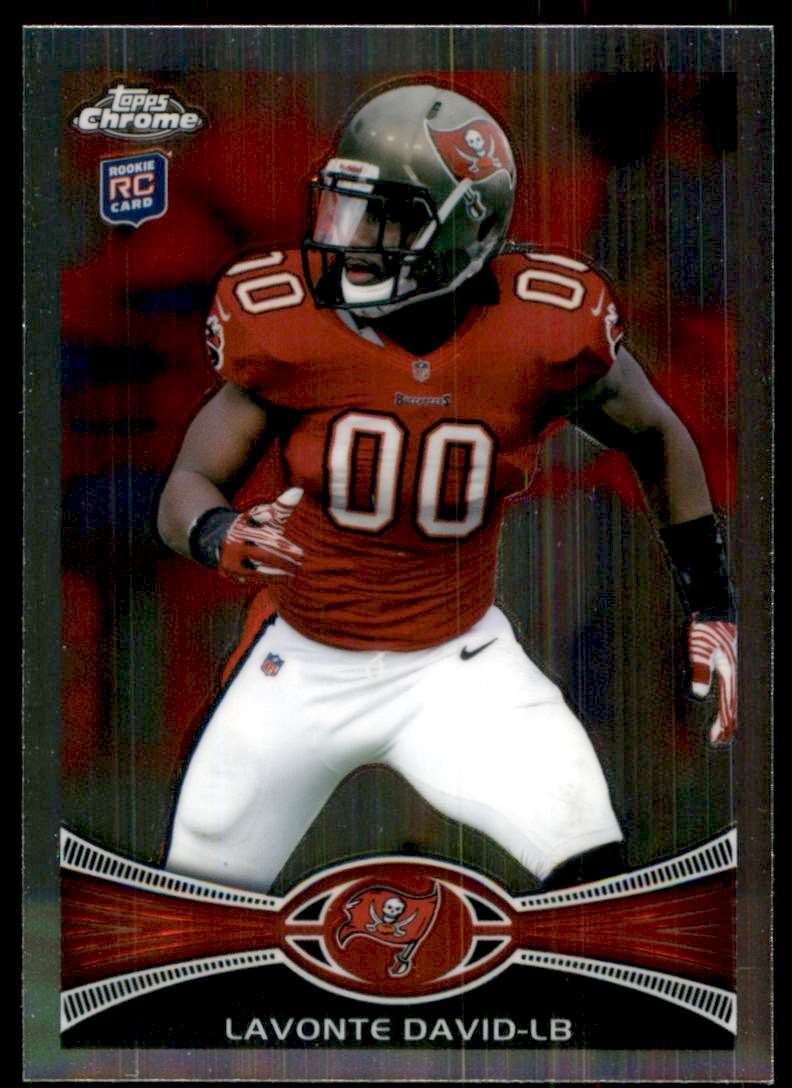 2012 Topps Chrome Lavonte David RC #198 card front image
