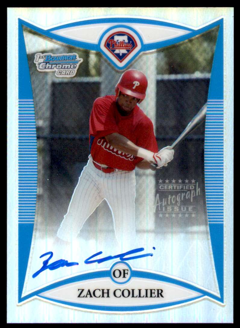 2008 Bowman Draft Picks & Prospects Prospects - Chrome Refractor Zach Collier #BDPP120 card front image