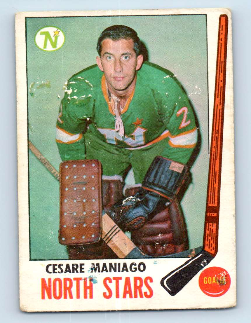 1969-70 Topps Cesare Maniago #121 card front image