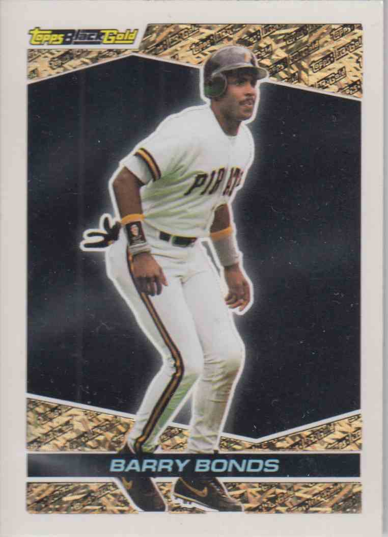 1993 Topps Black Gold Barry Bonds #1 card front image
