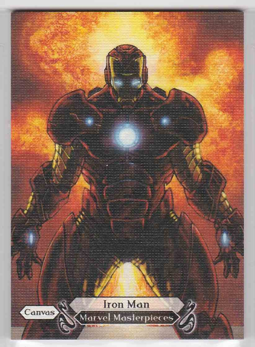 2018 Marvel Masterpieces Canvas Gallery Iron Man #98 card front image