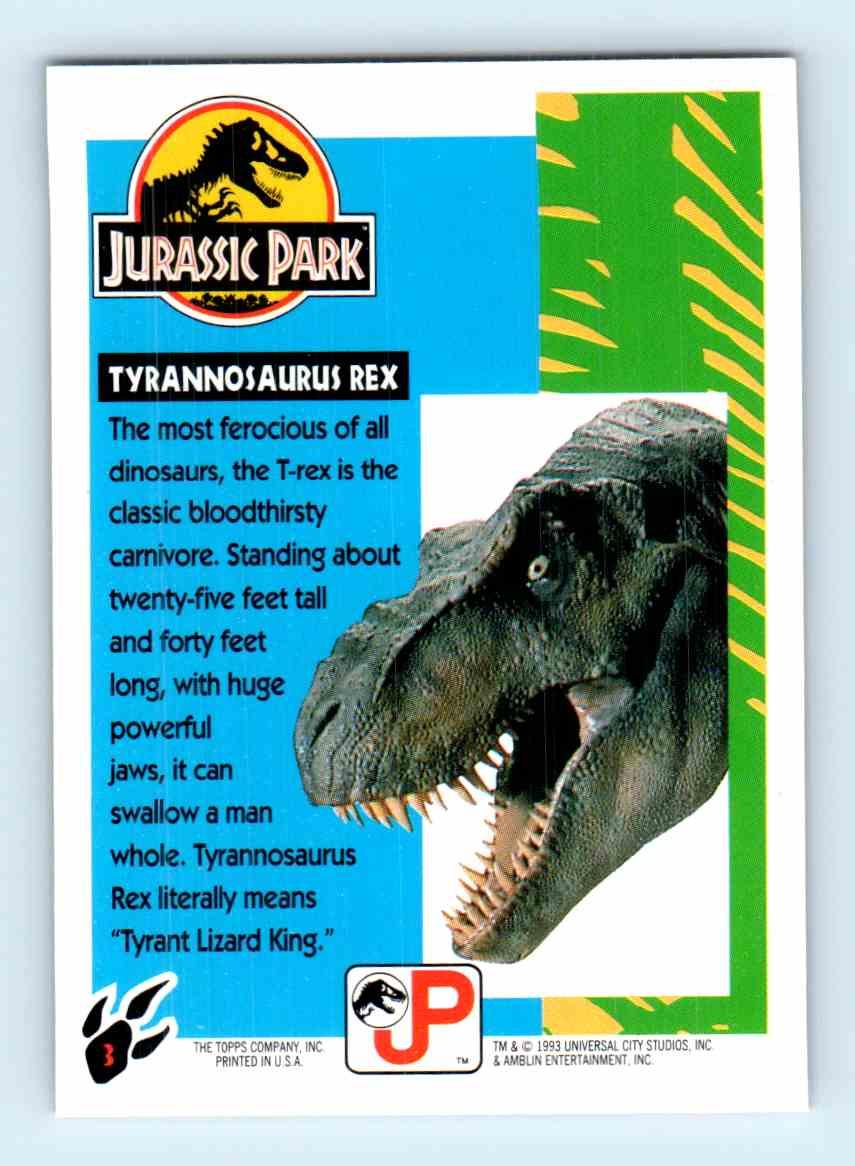 T Rex 3 Roaring In Jurassic Park Classic Campagna Trex 16s Powered By Bmw K1600 Motorcycle Magazine 1993 Topps Tyrannosaurus On Kronozio