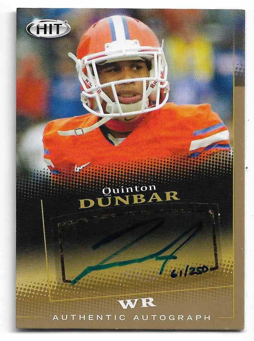 2015 Sage Hit Quinton Dunbar #A101 card front image